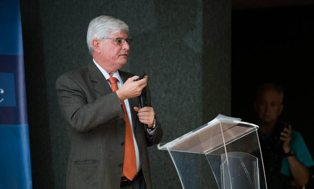 Rodrigo Janot durante palestra em Minas Gerais Foto: MOISES SILVA / O TEMPO 23-10-2017 / Agência O Globo