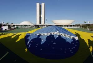 Manifestação de junho de 2013 em frente ao Congresso Nacional Foto: Eraldo Peres / AP