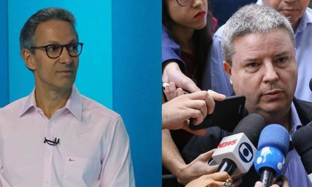 Romeu Zema (Novo) e Antonio Anastasia (PSDB) disputam o segundo turno em Minas Foto: Arte O GLOBO
