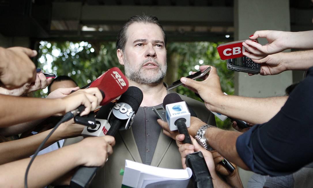 O presidente do STF, ministro Dias Toffoli, durante entrevista Foto: Rosinei Coutinho/STF