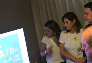 Bolsonaro acompanha apuração da votação neste domingo Foto: Agência O Globo