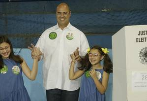 O governador eleito do Rio Wilson Witzel após votar neste domingo Foto: Antonio Scorza / Agência O Globo