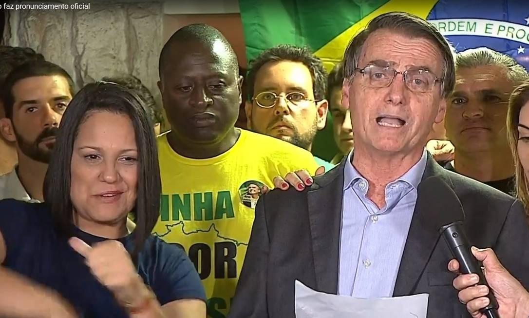 Discurso do presidente eleito Jair Bolsonaro Foto: Picasa / Reprodução TV