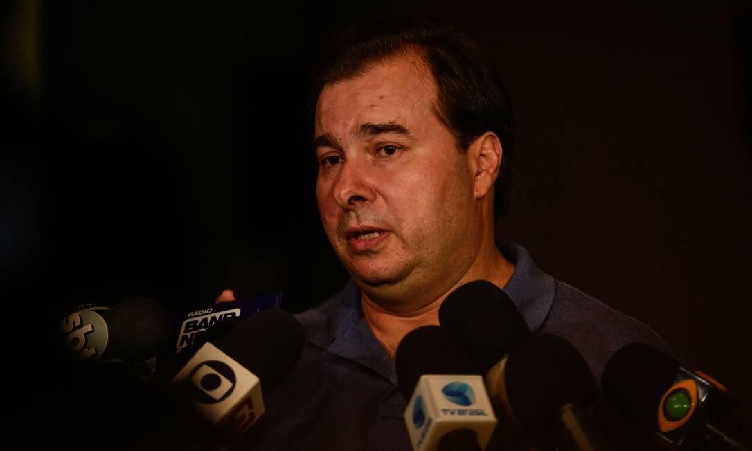 Rodrigo Maia comenta vitória de Jair Bolsonaro Foto: Brenno Carvalho / Agência O Globo