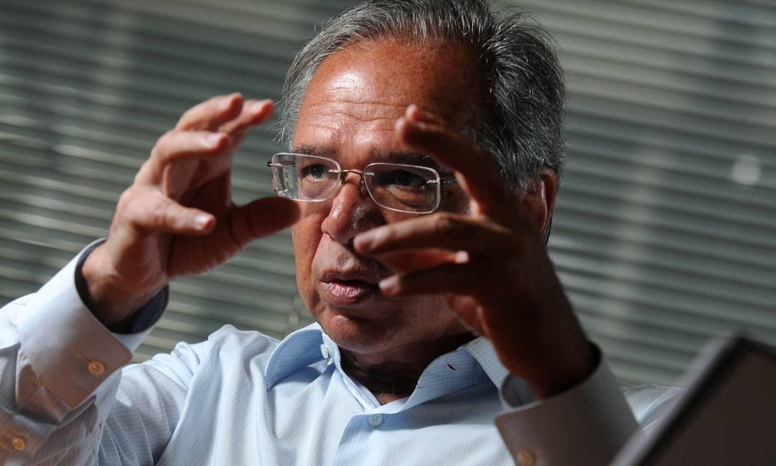 O economista Paulo Guedes, um dos homens de confiança de Bolsonaro Foto: Leo Pinheiro