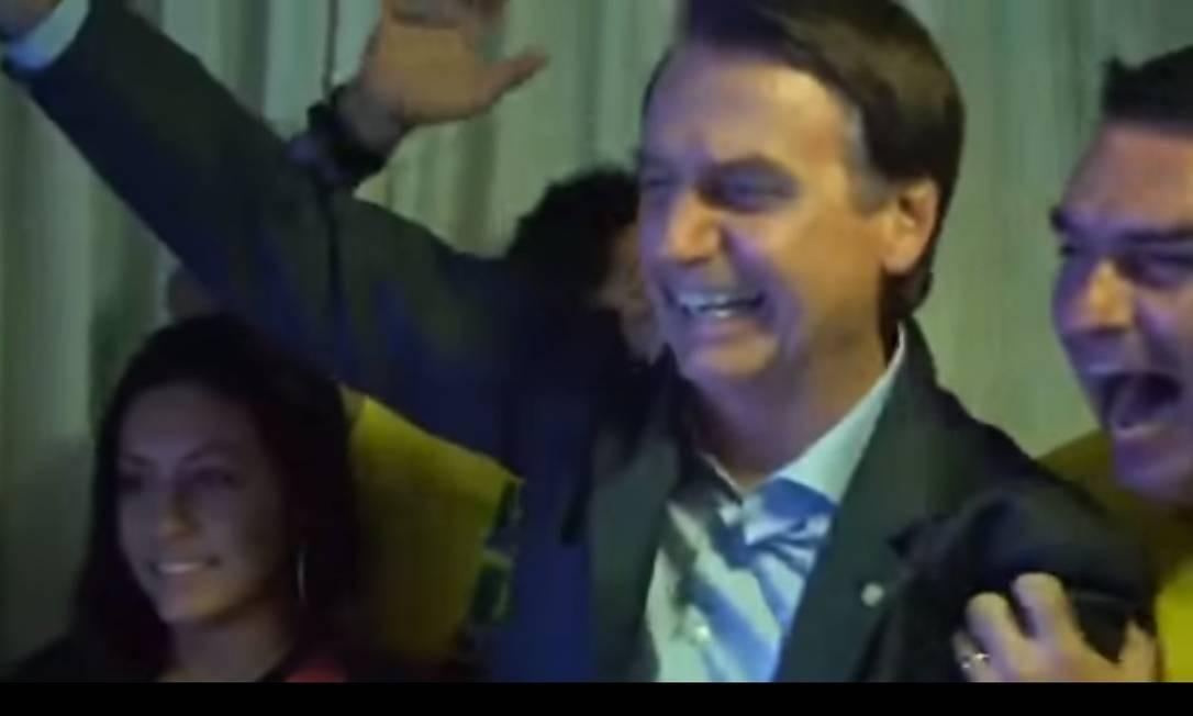 Jair Bolsonaro comemora o resultado das eleições Foto: Reprodução