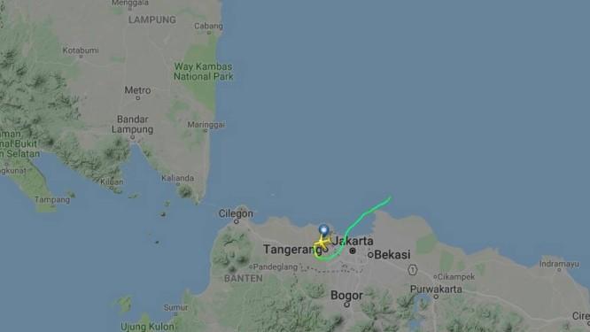 Trajeto da aeronave até sinal ser perdido Foto: Reprodução/flightradar24