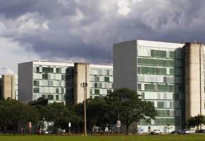 Esplanada dos Ministérios, em Brasília Foto: O GLOBO