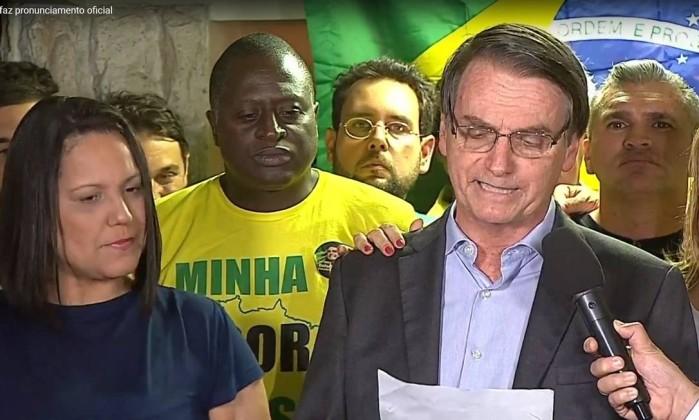 Discurso do presidente eleito Jair Bolsonaro Foto: reprodução