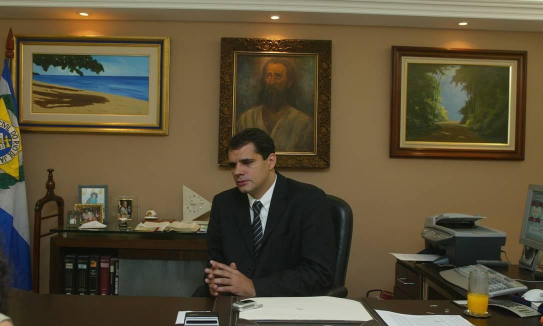 O ex-chefe da Polícia Civil Álvaro Lins Foto: Marco Antônio Cavalcanti/Agência O Globo/28-09-2014