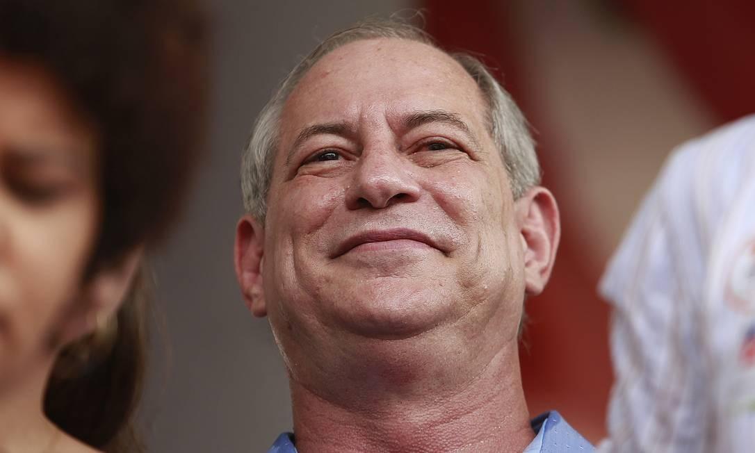 Ciro Gomes utilizou as redes sociais para cumprimentar o presidente eleito Jair Bolsonaro pela vitória nas eleições Foto: Edilson Dantas / Agência O Globo