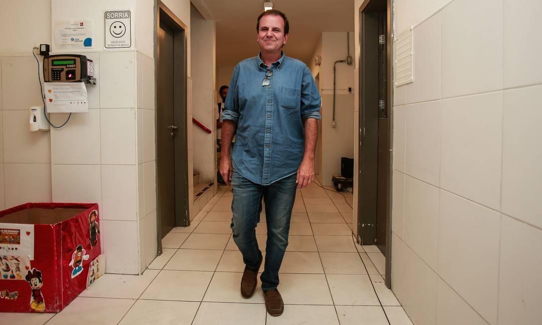 O ex-prefeito Eduardo Paes Foto: Brenno Carvalho / Agência O Globo