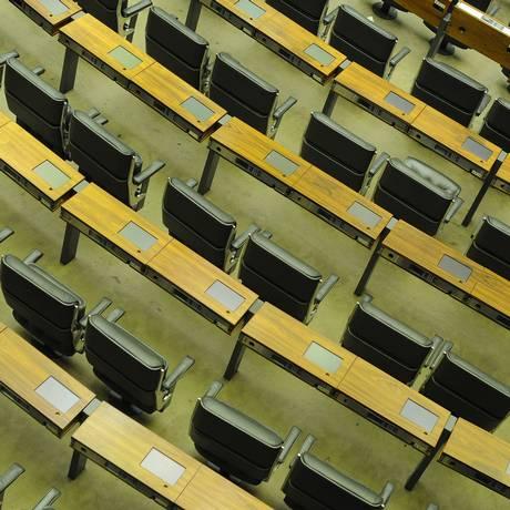 Assentos vazios no Congresso Foto: Andressa Anholete / AF