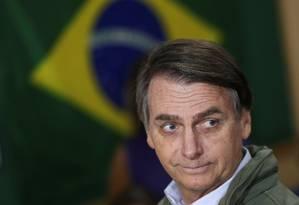O presidente eleito, Jair Bolsonaro Foto: Ricardo Moraes/Reuters/28-10-2018