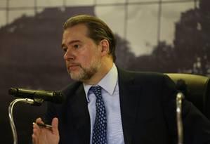 O presidente do STF, Dias Toffoli, na abertura do 'Mês Nacional do Juri' Foto: G.Dettmar/CNJ