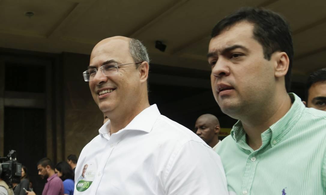 O governador eleito Wilson Witzel e o vice Cláudio Castro 08/10/2018 Foto: Gabriel de Paiva / Agência O Globo