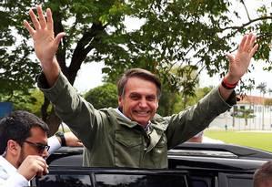 Presidente eleito, Jair Bolsonaro (PSL) Foto: PILAR OLIVARES / REUTERS