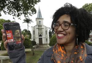 Thaís Cristina, moradora de Rio das Flores, votou em Haddad e Paes Foto: Antonio Scorza / Agência O Globo