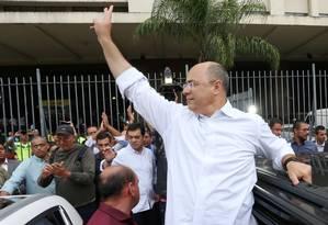 O governador eleito Wilson Witzel, na Central do Brasil Foto: Fabiano Rocha / Agência O Globo
