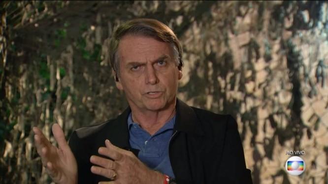 Presidente eleito, Jair Bolsonaro (PSL) concede entrevista ao Jornal Nacional Foto: Picasa / Reprodução/TV Globo