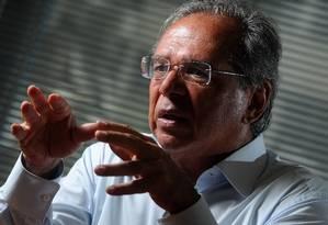 O economista Paulo Guedes, indicado para ser ministro da área econômica no governo de Jair Bolsonaro Foto: Agência O Globo