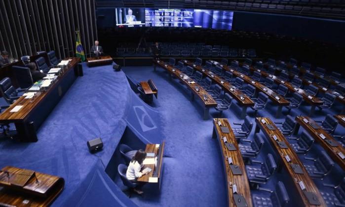 Plenário Senado Federal Foto: Jorge William / Agência O Globo
