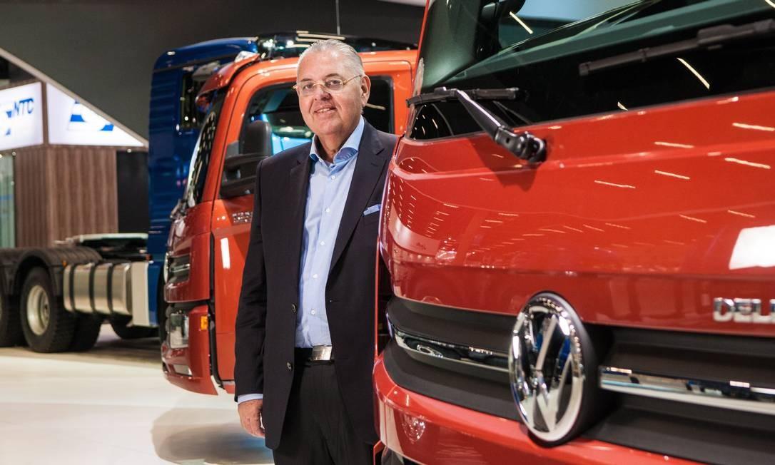 Roberto Cortes, da Volkswagen Caminhões e Ônibus Foto: Ana Paula Paiva / Valor/Agência O Globo