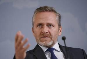 O ministro das Relações Exteriores dinamarquês, Anders Samuelsen Foto: MARTIN SYLVEST / AFP