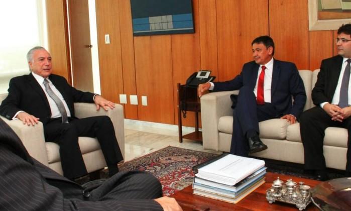O presidente Michel Temer recebeu o governador reeleito do Piauí, Wellington Dias (PT) Foto: André Oliveira