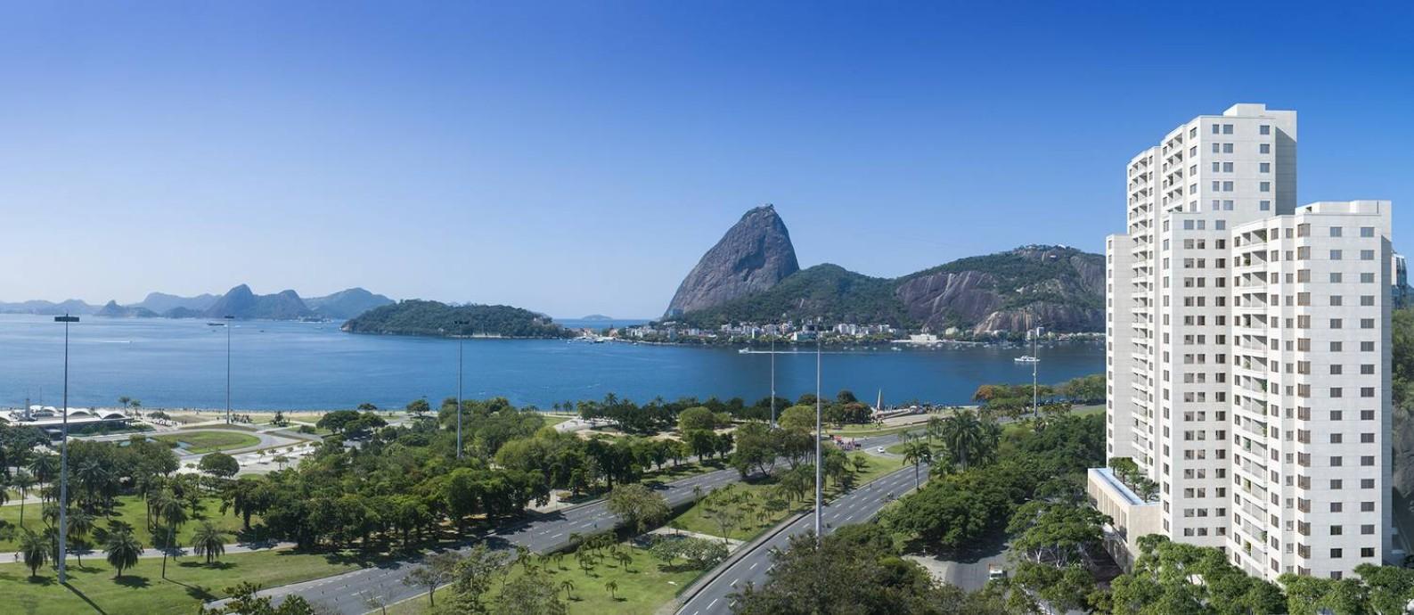 Projeção mostra como ficará o Rio by Yoo, que tem projeto do renomado escritório de design de Philippe Starck Foto: Divulgação