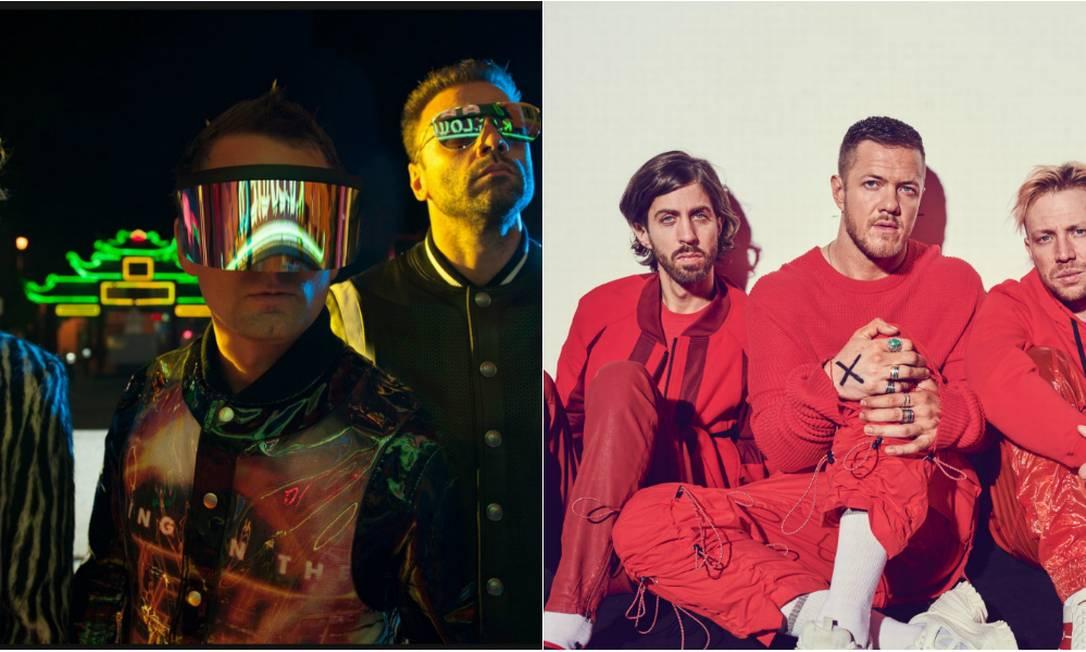 Muse e Imagine Dragons serão headliners do último dia do Rock in Rio 2019 Foto: Divulgação