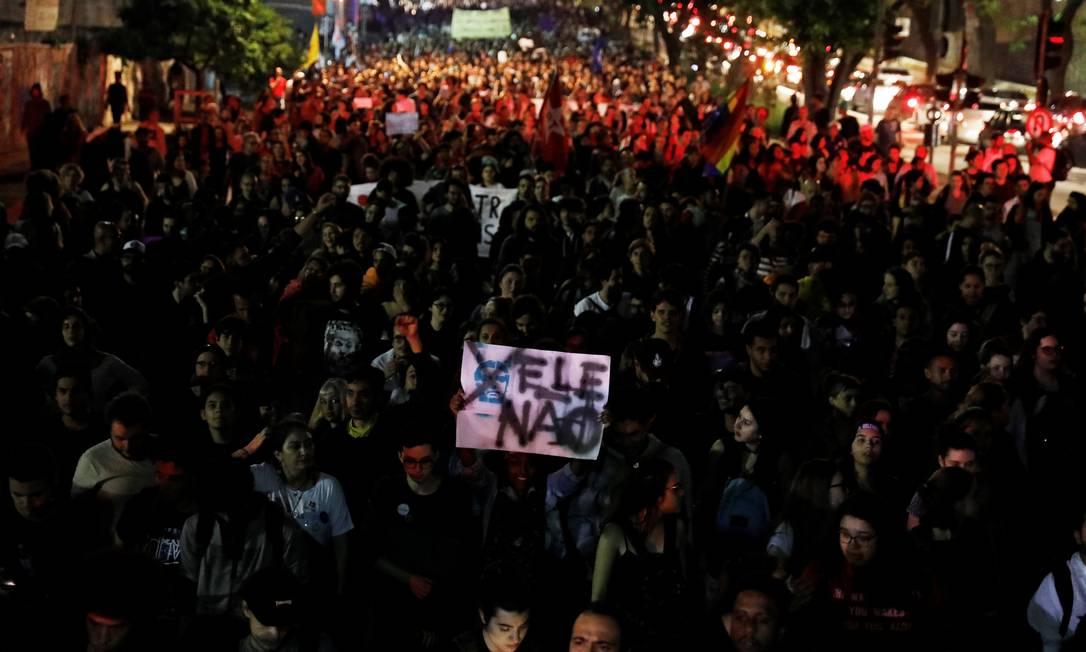 Protesto contra presidente eleito no Centro de São Paulo Foto: NACHO DOCE / REUTERS