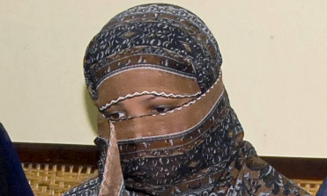 Asia Bibi, em 2010, ano em que foi condenada. Foto: STR / AP