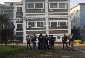 Policiais federais e agentes da Receita fazem operação na Companhia Docas do Estado de São Paulo (Codesp) Foto: Divulgação/Receita Federal