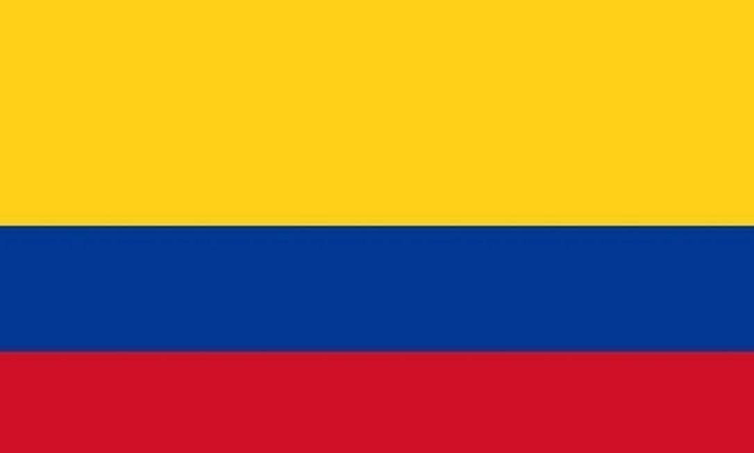 Bandeira da Colômbia Foto: Reprodução