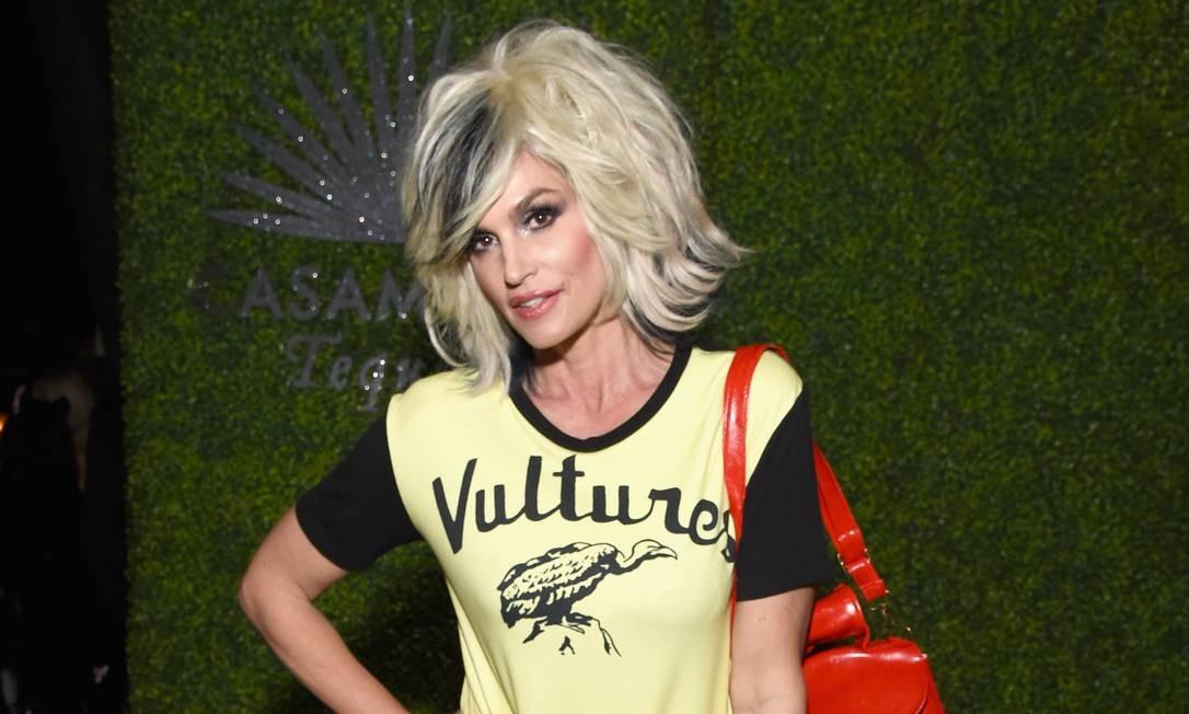 Cindy Crawford também se fantasiou como Debbie Harry, do Blondie Foto: Michael Kovac / Getty Images for Casamigos