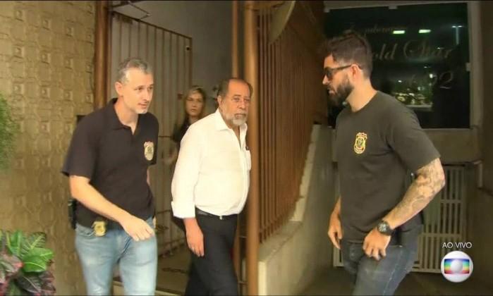 José Alex Botelho de Oliva, presidente da Codesp, é preso no Rio de Janeiro Foto: Reprodução/TV Globo