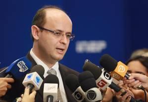 O ministro da Educação, Rossieli Soares, durante entrevista Foto: André Nery/MEC