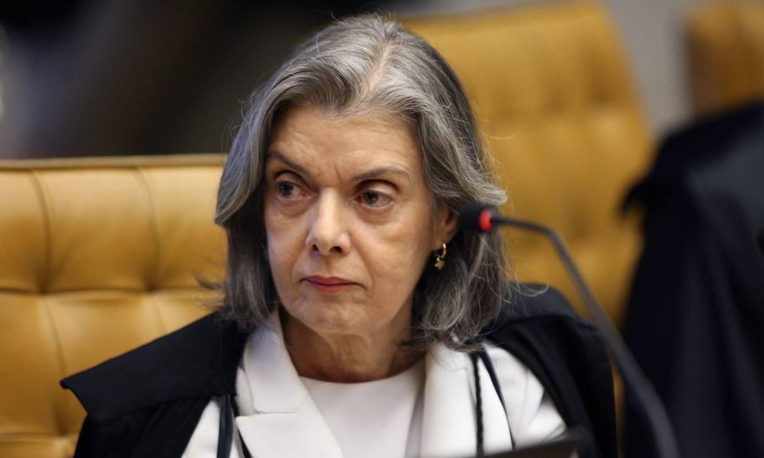 A ministra Cármen Lúcia, durante sessão do STF Foto: Nelson Jr./STF