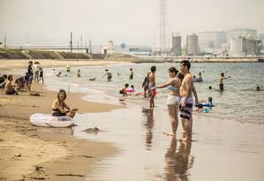 INTER - ESPECIAL JAPAO - FUKUSHIMA - 23/07/2018 - Praia em Fukushima abre pela primeira vez desde marco de 2011. A Haragamaobama, praia localizada na cidade de Soma, foi reaberta ao público no sábado 21/07/2018. Foto: Barbara Lopes | Agencia O Globo Foto: Bárbara Lopes / Agência O Globo