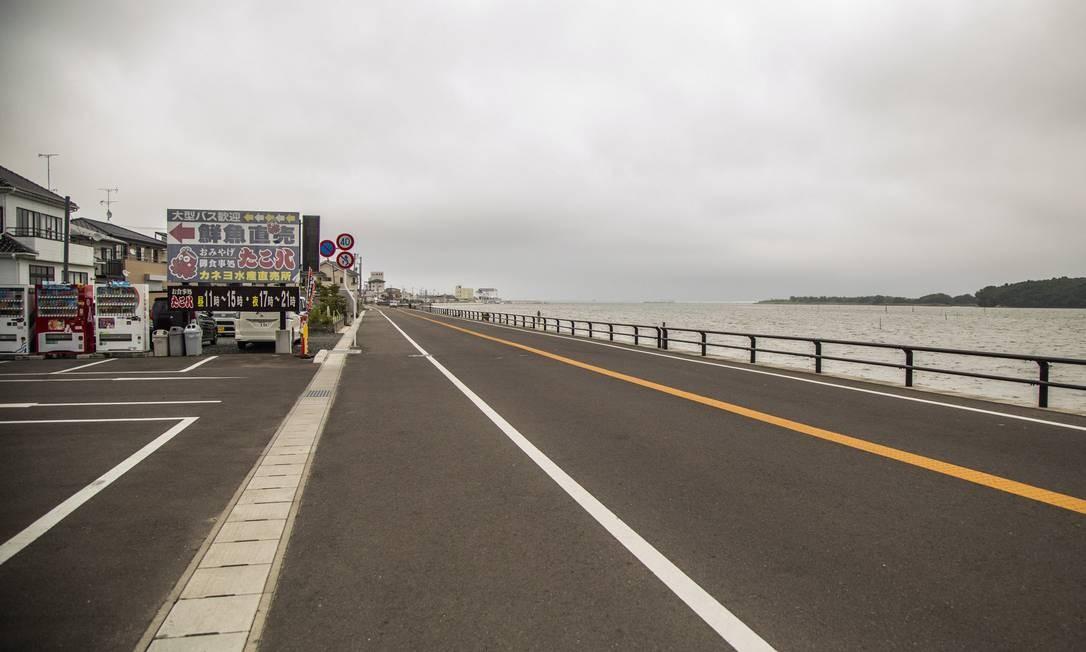 Uma das rodovias destruídas pelo tsunami em 2011 totalmente reconstruída Foto: Bárbara Lopes / Agência O Globo