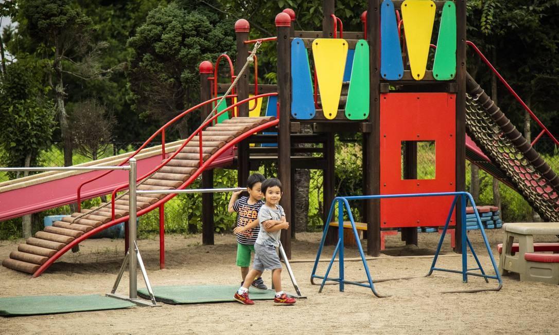 Jardim de infância Haragama em Soma (cidade) Foto: Bárbara Lopes / Agência O Globo