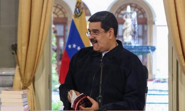 O presidente da Venezuela, Nicolás Maduro: bombeiros presos por compará-lo a burro são soltos Foto: HANDOUT / REUTERS