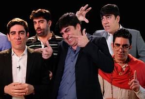 O humorista Marcelo Adnet imita candidatos e políticos Foto: Reprodução