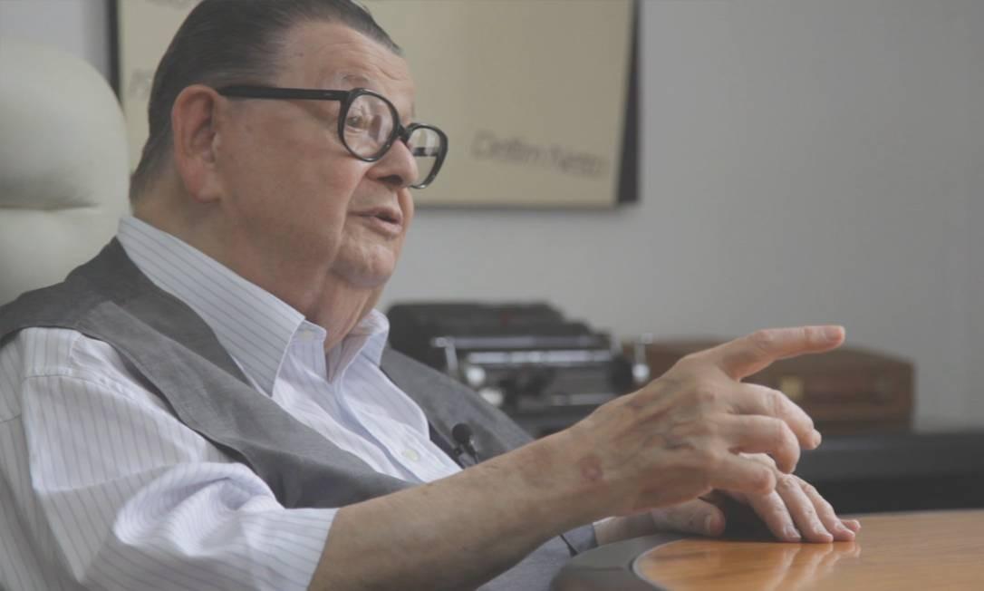 O economista e ex-ministro Delfim Netto Foto: Elisa Martins / Agência O Globo/28-3-2018