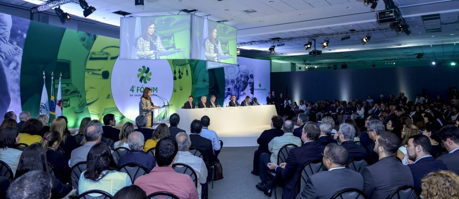 Evento teve como tema 'O desafio da eficiência em Saúde: um debate inclusivo' Foto: Fabio Cordeiro