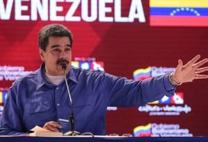 Presidente Nicolás Maduro discursa em evento de acordo entre Cuba e Venezuela Foto: Palácio Miraflores 31-10-2018 / REUTERS