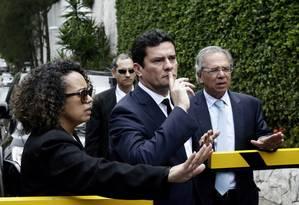O juiz Sérgio Moro viajou ao Rio para se encontrar com o presidente eleito, Jair Bolsonaro, na Barra da Tijuca Foto: Gabriel Paiva / Agência O Globo