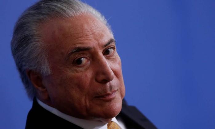 Presidente Michel Temer vai se encontrar com o presidente eleito Jair Bolsonaro na próxima quarta-feira, em Brasília Foto: Adriano Machado / Reuters