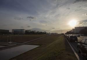 Esplanada dos ministérios em Brasília Foto: Daniel Marenco/Agência O Globo/13-07-2018